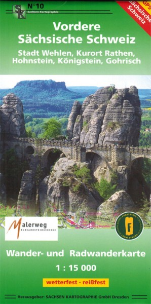 Hiking map Vordere Saxon Switzerland