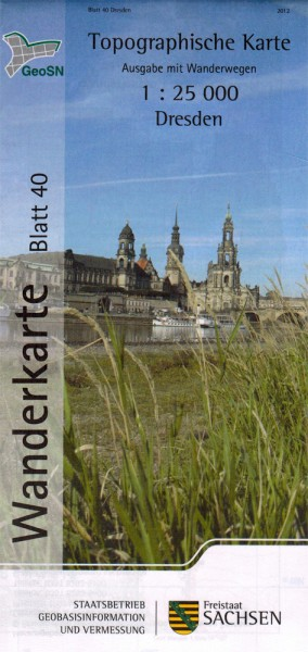 Hiking map Dresden and surroundings / Saxon Elbland
