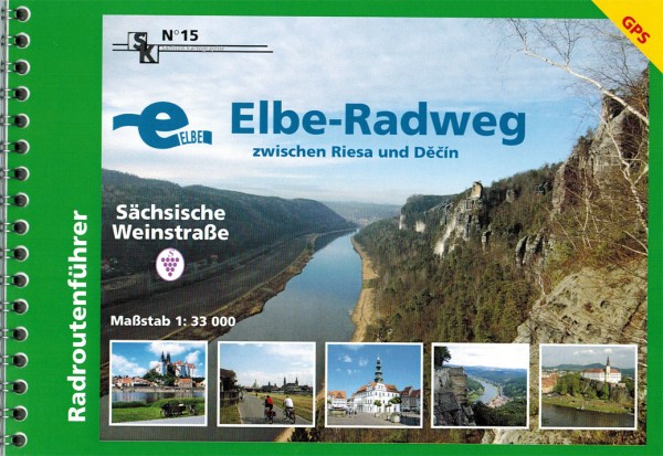 Cycle touring map Elbe cycle path between Riesa and Dečin Publisher
