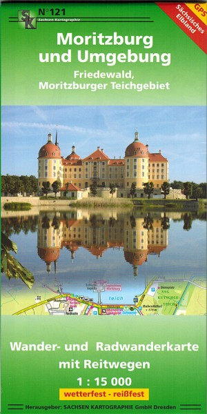 Hiking map Moritzburg and surroundings with Friedewald