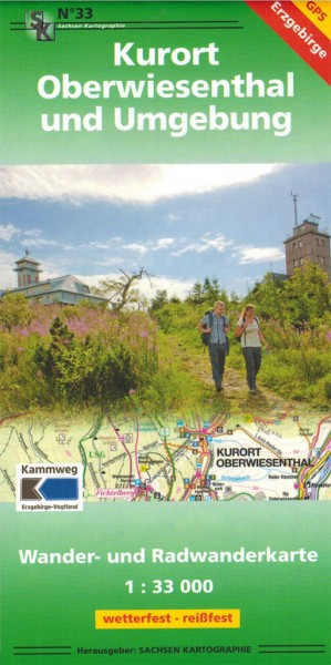 Cycling and hiking map health Oberwiesenthal / Erz Mountains