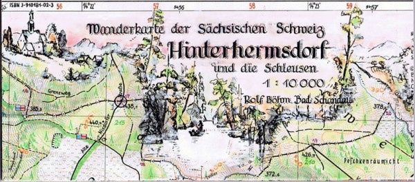 Hiking map Hinterhermsdorf / Saxon Switzerland