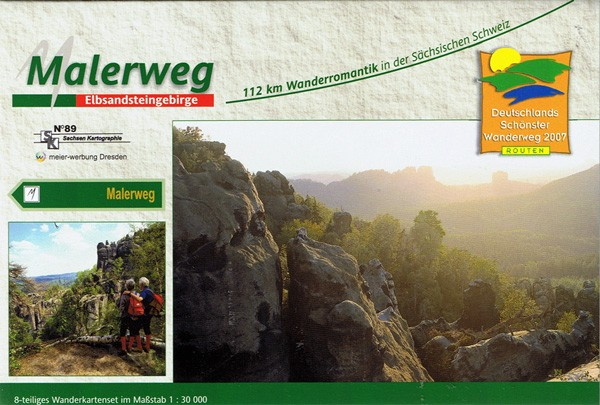 Hiking map set Malerweg through Saxon Switzerland