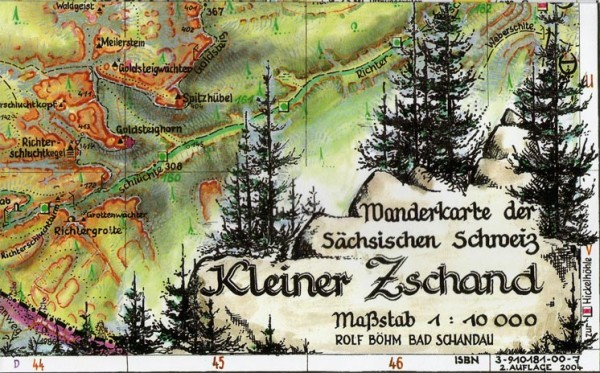Böhm Hiking map Kleiner Zschand / Saxon Switzerland
